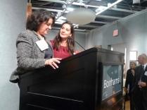 Renee Vara and Betty Krulik win the AAA President's Award 2012